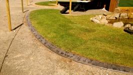 Curved garden edging